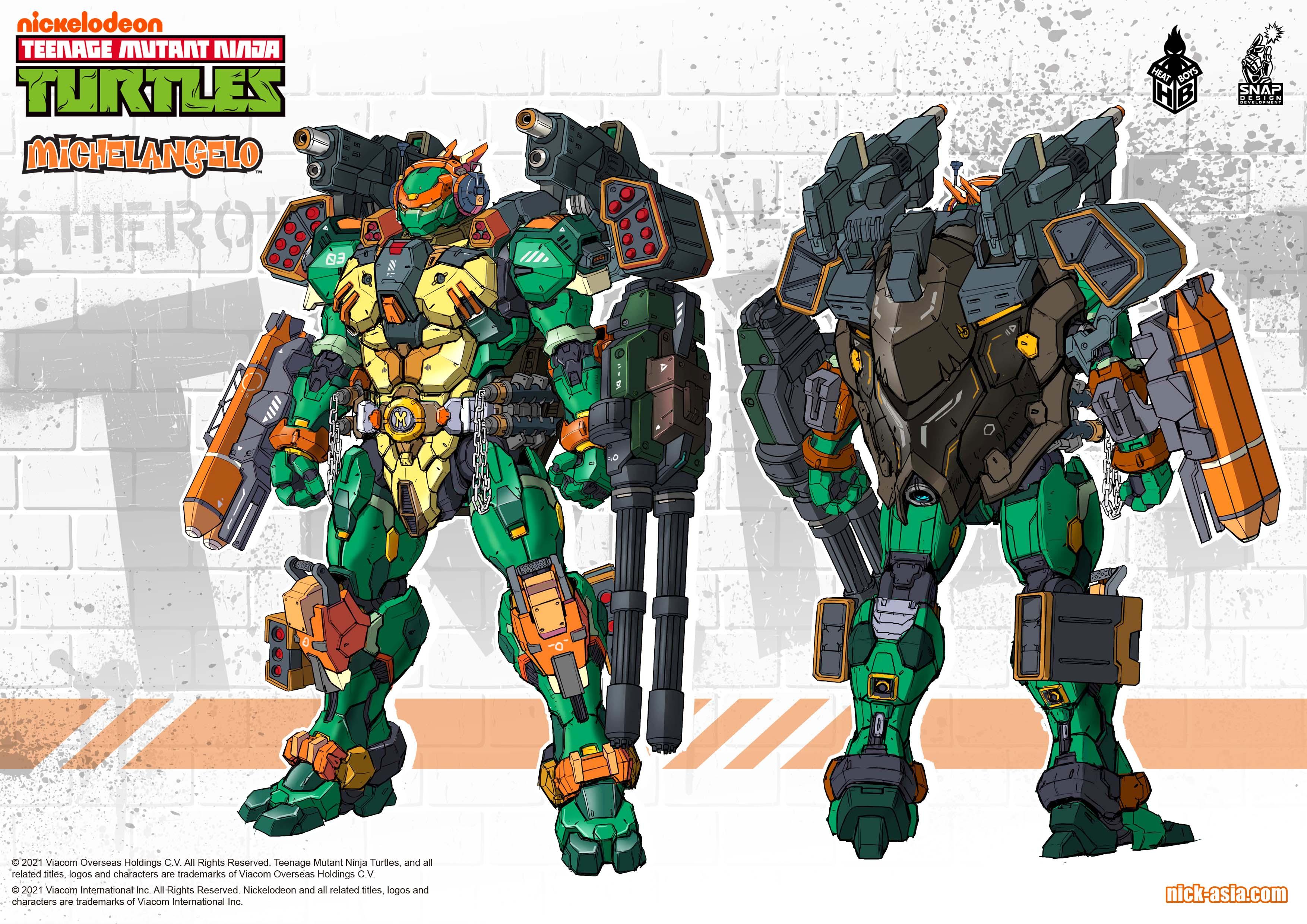 Link a Teenage Mutant Ninja Turtles prototipo per le Turtles robotiche di Heat Boys x Snap Desing – (1)
