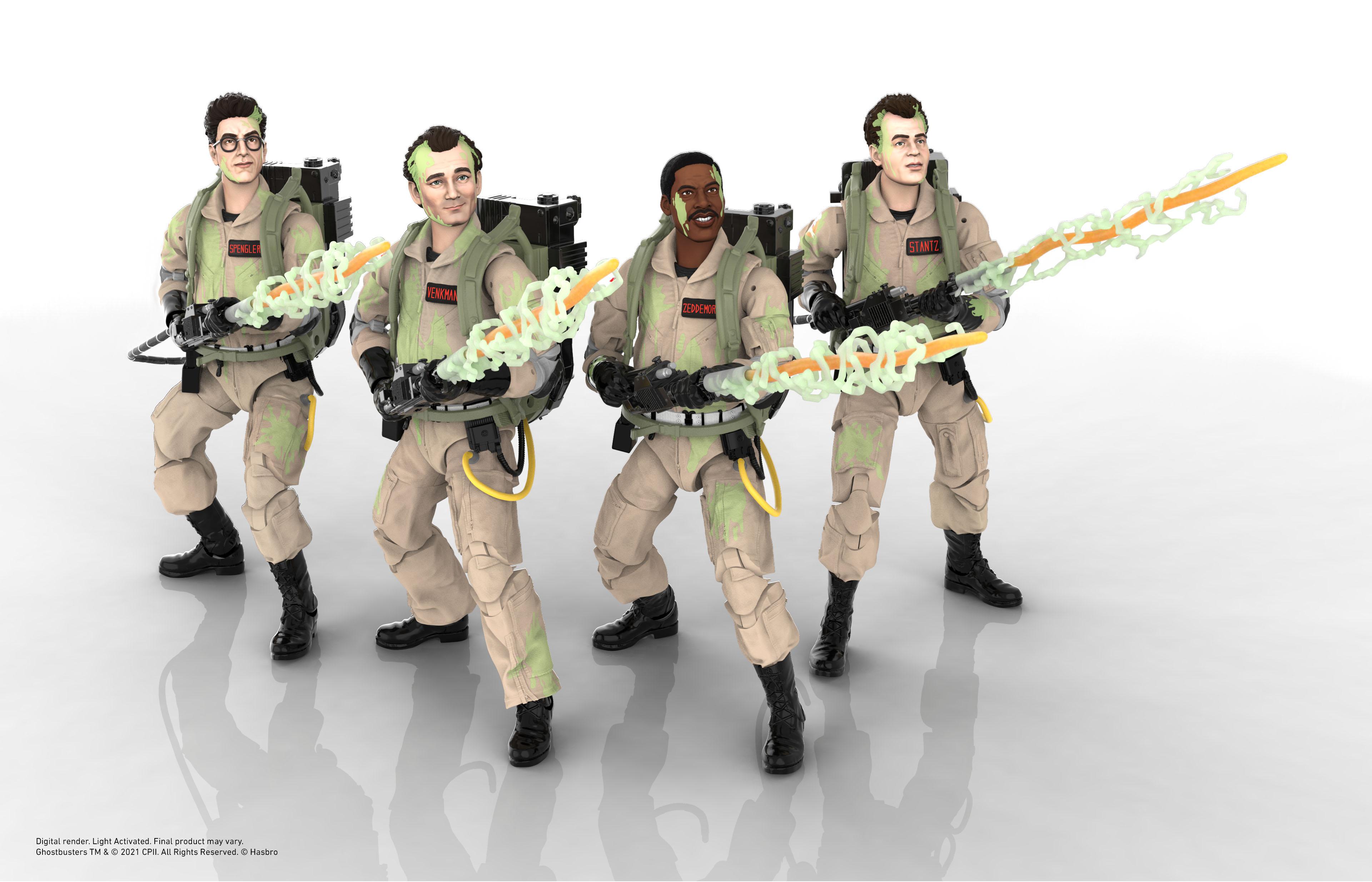 Link a Peter Venkman, Ray Stantz, Egon Spengler, and Winston Zeddemore – ghostbusters day – hasbro – glow in the dark – (4)