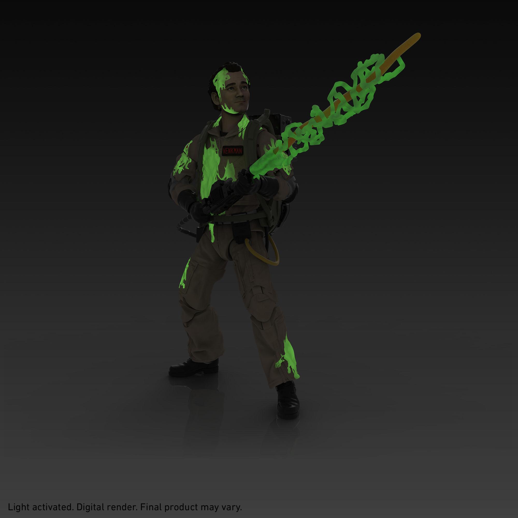 Link a Peter Venkman, Ray Stantz, Egon Spengler, and Winston Zeddemore – ghostbusters day – hasbro – glow in the dark – (5)