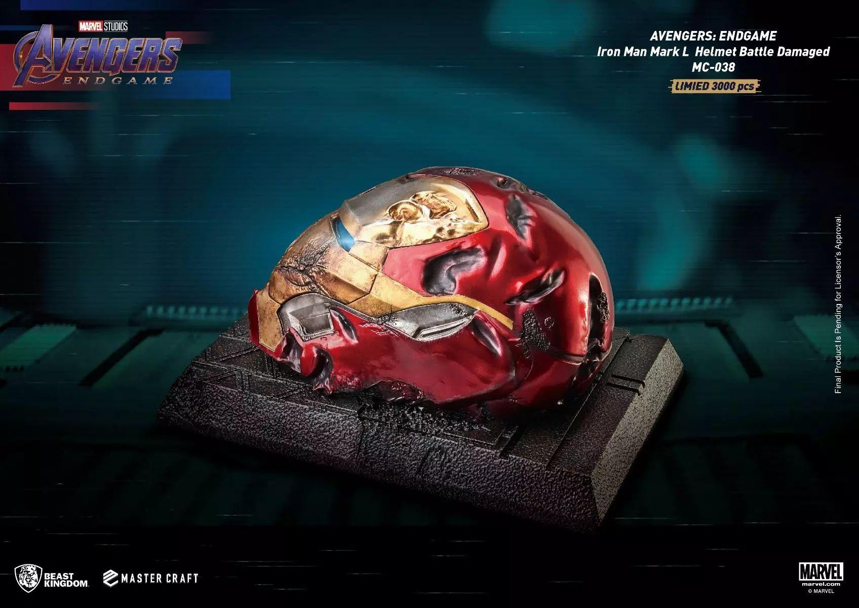 Link a Beast-Kingdom una replica dell'elmetto distrutto di Iron Man da Avengers Endgame – (3)_risultato