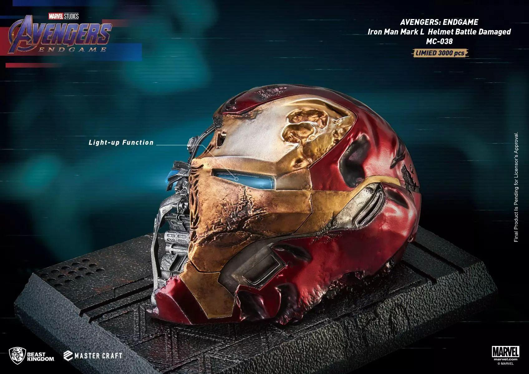 Link a Beast-Kingdom una replica dell'elmetto distrutto di Iron Man da Avengers Endgame – (4)_risultato